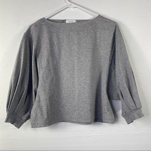 Beauty and Youth gray Crop Top